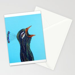 Singing Peacock Stationery Cards