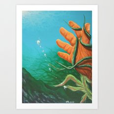 The Drowning Art Print