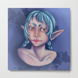 Blue elf Metal Print