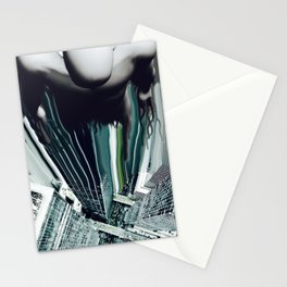 Don't look down! (Green) Stationery Cards
