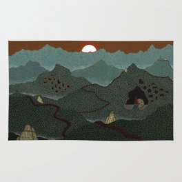 mountain system Rug