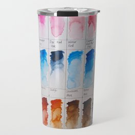 Watercolor Swatches Travel Mug