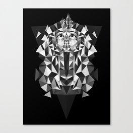 Black and White Tutankhamun - Pharaoh's Mask Canvas Print
