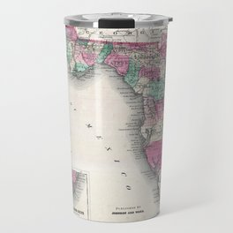1866 Map of Florida Travel Mug