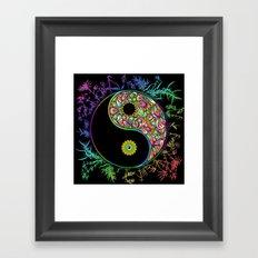 Yin Yang Bamboo Psychedelic Framed Art Print