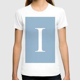 Letter I sign on placid blue background T-shirt