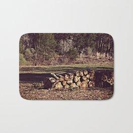 Ranch Firewood Bath Mat