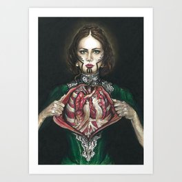 Open Hearted Art Print