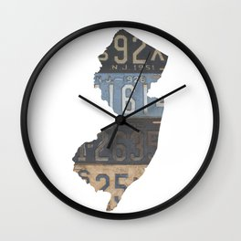 Vintage New Jersey Wall Clock
