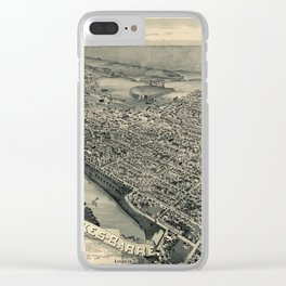 Map Of Wilkes Barre 1889 Clear iPhone Case