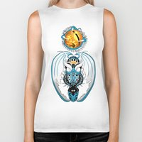 skyfall Biker Tanks featuring Cosmic Skyfall Dragon by Pr0l0gue