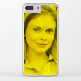 Rose McAver - Celebrity (Florescent Color Technique) Clear iPhone Case