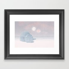 Tatooine Christmas Card Framed Art Print