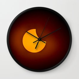 Partial Eclipse Wall Clock