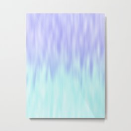 Ice blue abstract design Metal Print