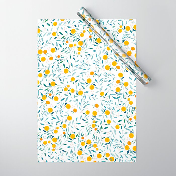 Orange Tree Wrapping Paper