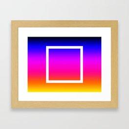 White Box Framed Art Print