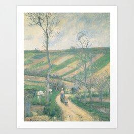 Camille Pissarro - The Fond-de-L'Hermitage, Pontoise Art Print