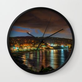Moonrise Over Main Beach Wall Clock
