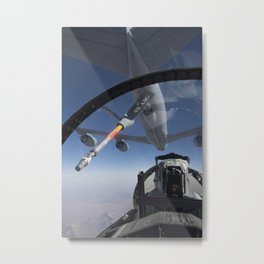 243. View From an F-15D Metal Print