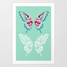 Painted Wings  Art Print