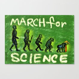 March For Science Canvas Print