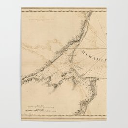 The Atlantic Neptune: Charts for the Use of the Royal Navy (1780) - Miramichi Bay Poster