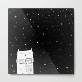 Winter Kitty Metal Print