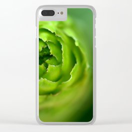green freshness Clear iPhone Case