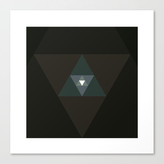 #359 Graced with light part I (triangle) – Geometry Daily Canvas Print