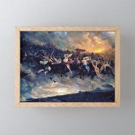Peter Nicolai Arbo - The Wild Hunt of Odin - Digital Remastered Edition Framed Mini Art Print
