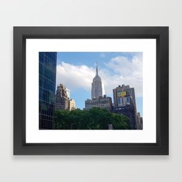 Empire State Building from Bryant Park Framed Art Print
