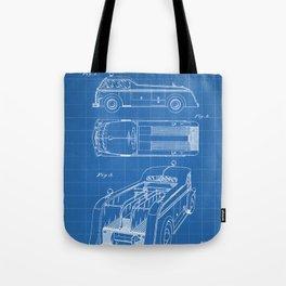 Fire Truck Patent - Fireman Art - Blueprint Tote Bag