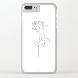 Fragile Rose Clear iPhone Case