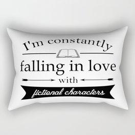 Fictional Characters Bookworm Rectangular Pillow