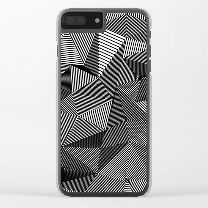 Geometric Doodle Clear iPhone Case