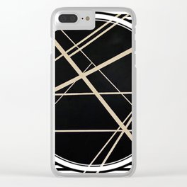 Crossroads - circle/line graphic Clear iPhone Case
