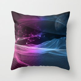 Vectorial World Throw Pillow
