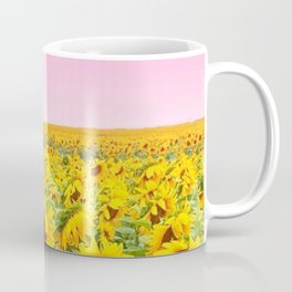 Blushing Sunflower Fields Coffee Mug