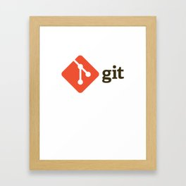 Git Authentic - version control system Framed Art Print