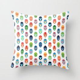 Lucha libre mask pattern Throw Pillow