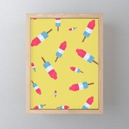 Popsicles - Retro Pattern  Framed Mini Art Print