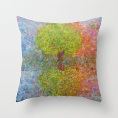 Self-knowledge in the drop of water Throw Pillow
