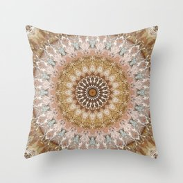 Mandala tender pink Throw Pillow