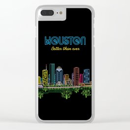 Houston Better Than Ever Circuit Clear iPhone Case