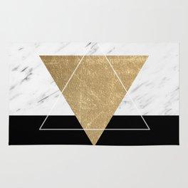 Golden marble deco geometric Rug