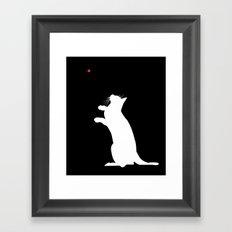 Laser Kitty Framed Art Print