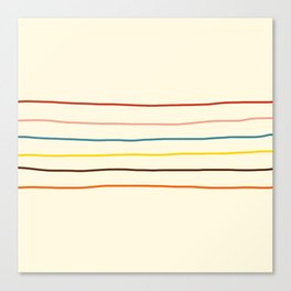 Abstract Retro Stripes #2 Canvas Print