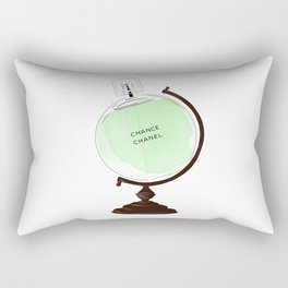 Green Perfume Globus Rectangular Pillow