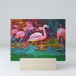 Pink Flamingos Mini Art Print